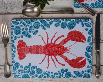 Lobster Placemats, set of four