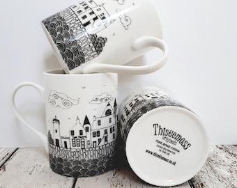 Couthie Coast fine bone china mug,