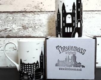 St. Andrews Skyline fine bone china mug,