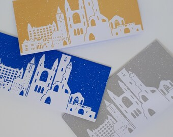 Hand Printed St.Andrews Winter Card