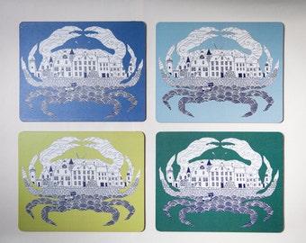 Crabs Neuk coasters