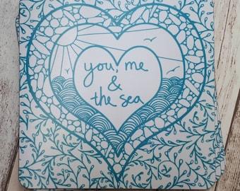Coastal Placemats, set of 4 or 6,  coastal kitchen style, turquoise gift, Valentine's gift, coastal housewarming