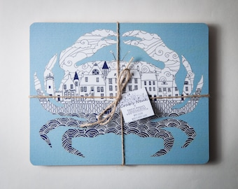 Crab Placemats set of four
