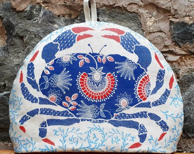 Blue crab tea cosy
