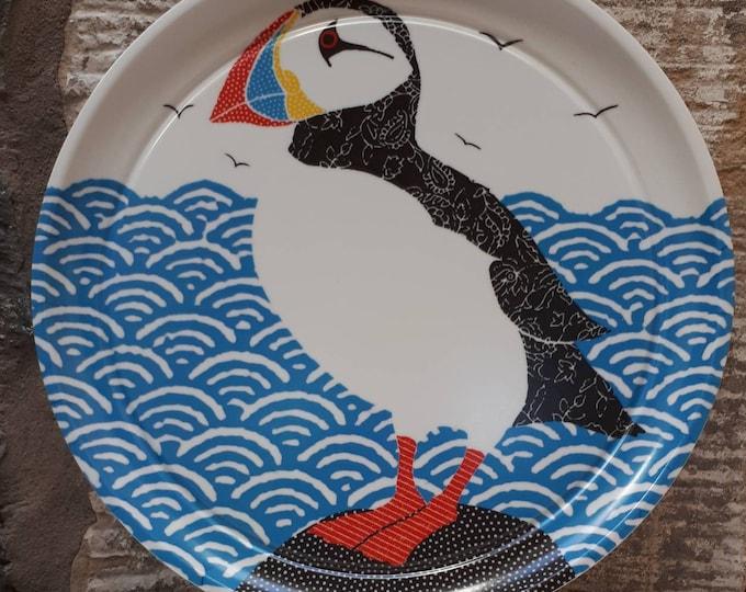 Puffin tray, bird tray, coastal gift, sea bird gift