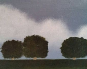 Trio - Oil Painting - Minimalist