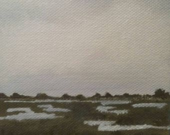 Salt Marsh - Oil Painting - Mini