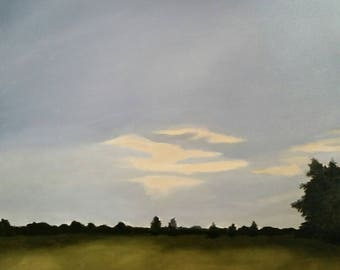 Delta Sunset - Oil Painting