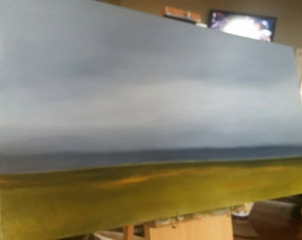 Rain Pouring In - Work In Progress - Oil Painting