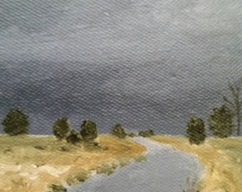 River Bend - Oil Painting - Impressionist