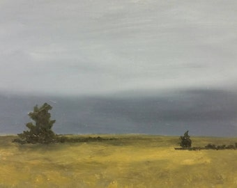 Waiting For Rain - Oil Painting