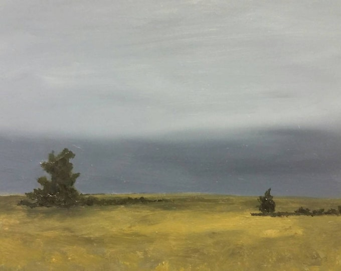Featured listing image: Waiting For Rain - Oil Painting