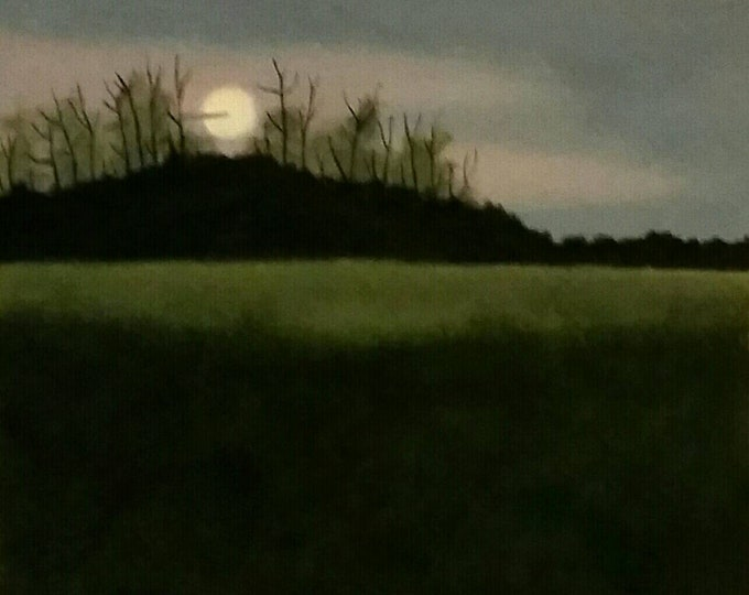 Featured listing image: Bluegrass Sunset - Oil Painting