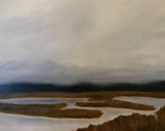 Churning - Work In Progress - Oil Painting