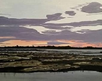 Bayou Sunset - Acrylic Painting - ready to ship!