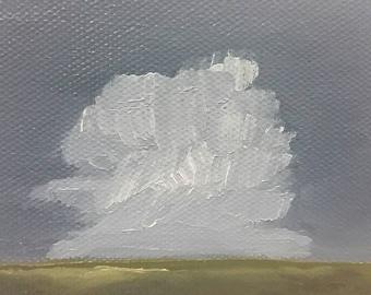 Rolling Thunder - Oil Painting - Minimalist