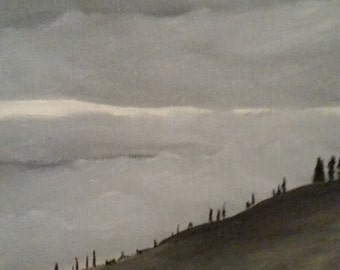 Enchanted Mist - Oil Painting - Small - Desktop painting