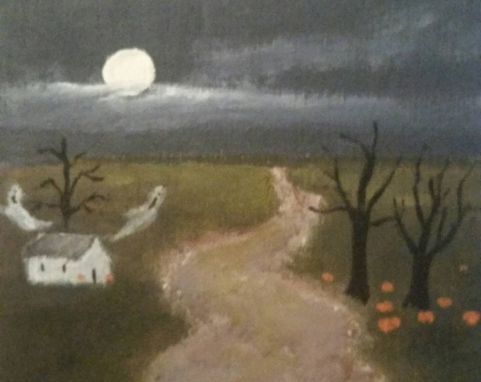 Featured listing image: Twilight Haunting - Ready To Ship!- Acrylic Painting - Mini
