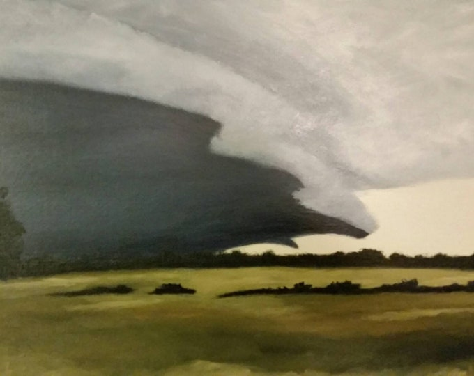Featured listing image: Southern Delta Storm - Oil Painting