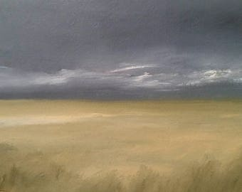 Prairie Storm - Oil Painting On Carton Board