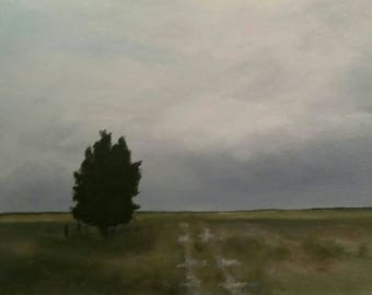 Approaching Storm - Oil On Paper