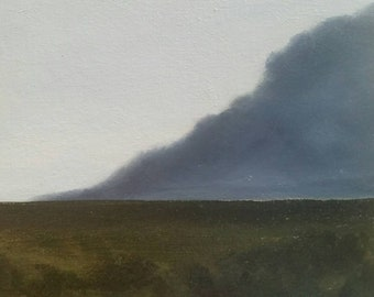 Storm Over Prairie - Oil Painting