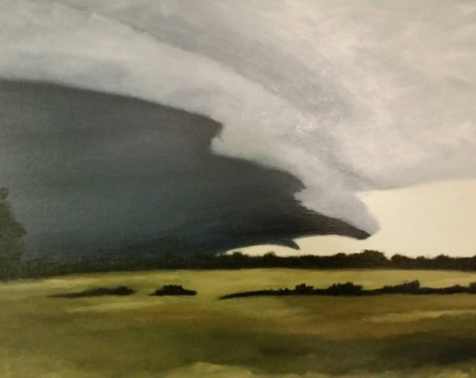 Featured listing image: Mississippi Delta Storm - Oil Painting