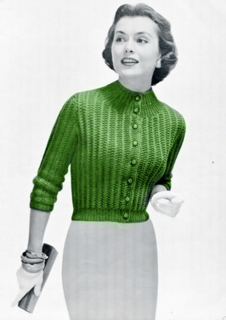 a5bb8be5c Classic Knit Sweater Pattern The Perfect Vintage Cardigan