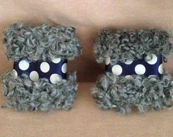 Gotland Sheepskin Wristwarmers / Cuff Bracelets
