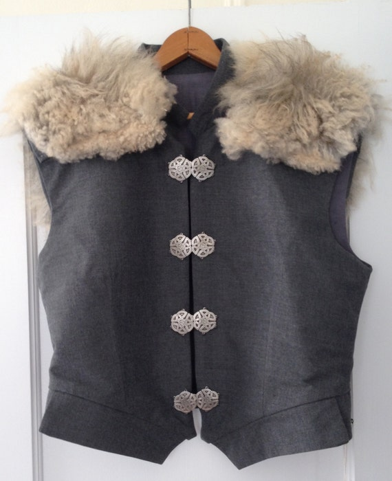 Renaissance / Game of Thrones Style Sheepskin Trim Doublet