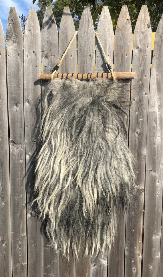 Felted Sheep Fleece Wall Hanging
