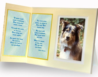 Pet Loss Frame If Tears Could Build a Stairway Sympathy Gift