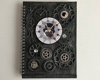 Mixed Media A5 Hand Decorated Notebook