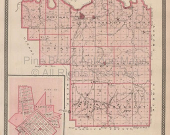 Gibson County Indiana Map.Gibson County Map Etsy