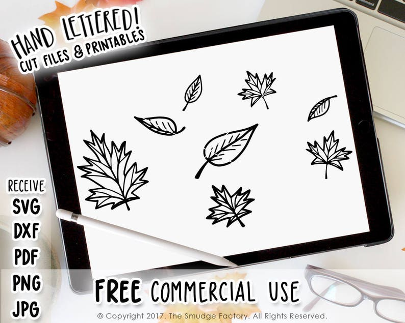 Fall Svg Cut File October Leaves Leaves Cutting File Hand Etsy
