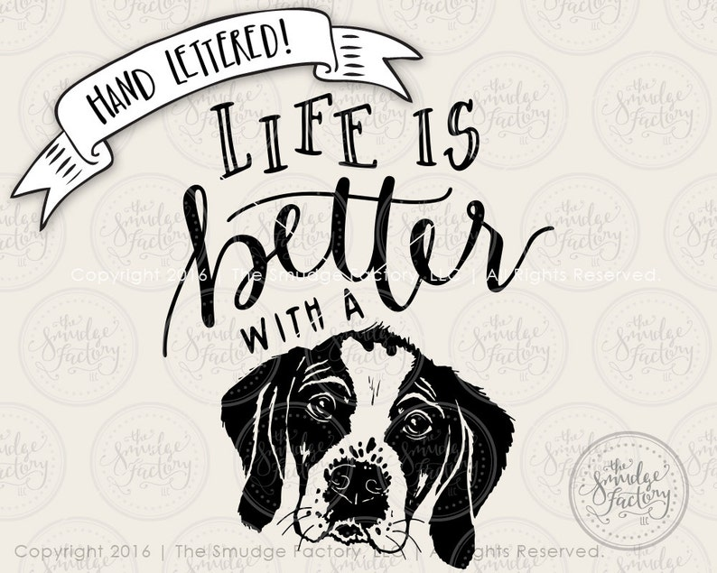9ee440bcc1 Puppy Dog SVG Cut File Life Is Better With A Dog Cutting