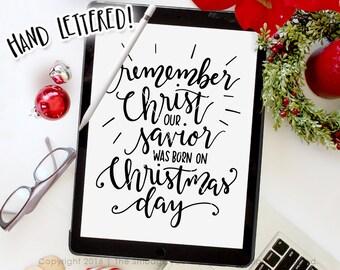 Christmas SVG Cut File, Christmas Vector, God Rest Ye Merry Gentlemen, Hand Lettered Clipart, Silhouette SVG, Cricut Cut File, Christmas DXF