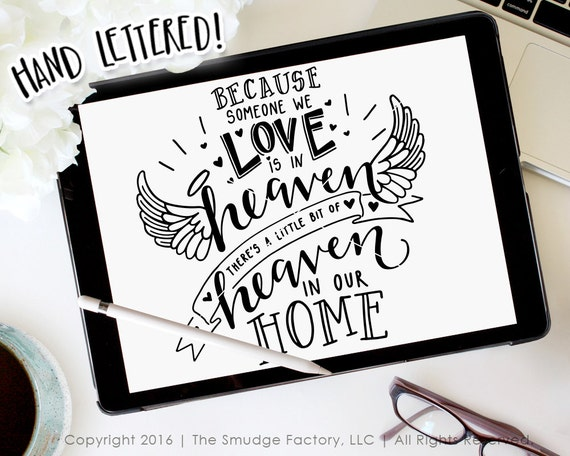 Heaven Svg Cut File Because Someone We Love Is In Heaven Etsy