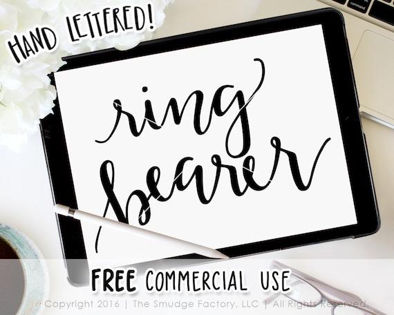 Ring Bearer Svg Cut File Silhouette Cricut Vector Hand Etsy