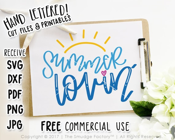 Summer SVG, Summer Printable, Summer Lovin' SVG, Summer Cut File, Beach  Clipart, Summer Cutting File, Hand Lettered, Silhouette, Cricut