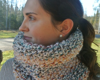 Hudson Bay Colours, Hand Knit Cowl