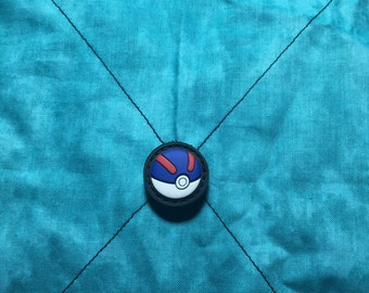 ranger eye pokeball PVC patch -one inch - wirh hook and loop