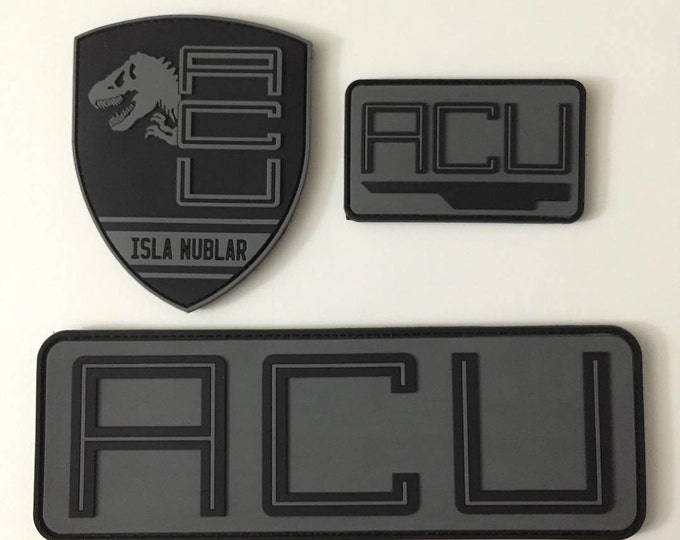 Deluxe Acu dinosaur jurassic patches. Choice of hat, shoulder and chest with hook and loop backing