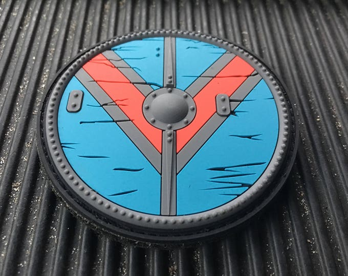 Viking Queen Lagertha pvc shield with hook and loop  backing  3 inches
