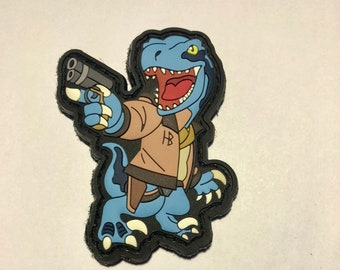 Blue Dino with pew pew