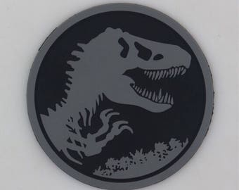 Subdued trex and trees patch 3 inches acu jurassic