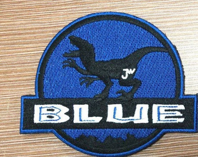 blue raptor embroidered patch limited supply