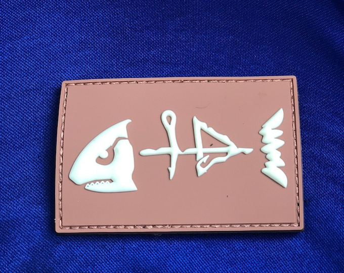the HB fish- glow in the dark fishing patch