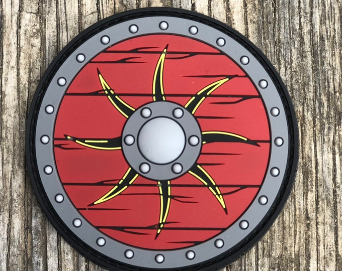 Vikings king Ivar the boneless shield pvc patch with hook and loop backing