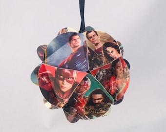 Justic League Ornament, Superman ornament, Wonder Woman ornament, The Flash, Batman ornament, DC Ornament, DC Comics, Comic book gifts